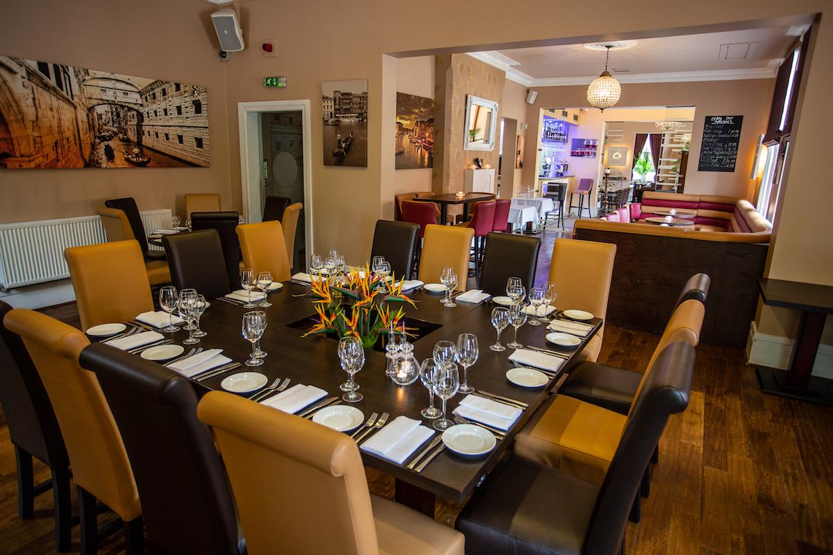 Venezia Italian Restaurant And Bar Nottingham